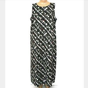 Uniform JPR 2X, Abstract Grid Print Maxi Dress